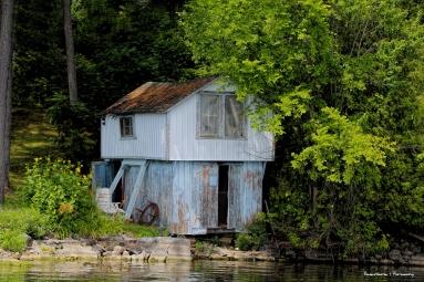 Old Boathouse on the lake