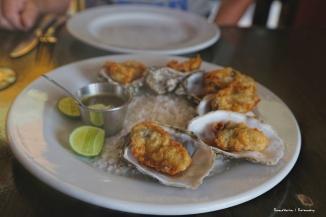 Tempura Oysters at Barra Azul