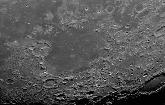 Mare Serenitatas and dozens of impact craters