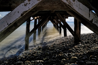 Long exposure under the pier