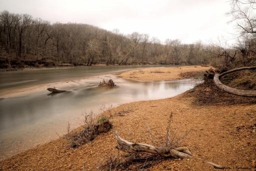 Meramec River slowly sliding by