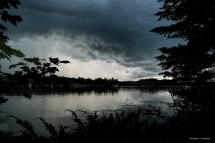 Incoming thunderstorms over Otty Lake