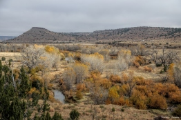 Carrizo River, where the dinosaur prints are found in a dry portion of the streambed