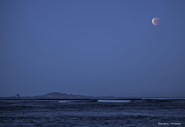 The moon over Isla Todos Santos