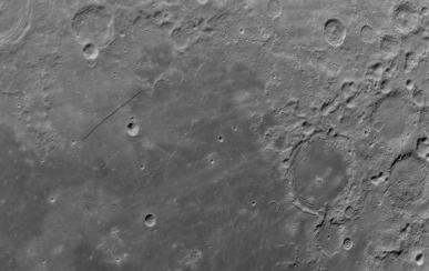 Rupes Recta and crater Pitatus