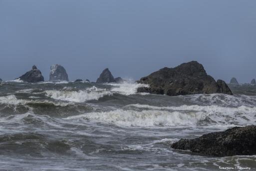 Beautiful rocks and waves