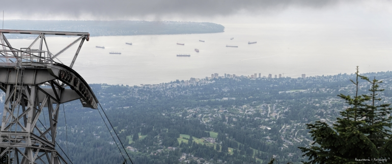 Vancouver Skyline going up the Gondola