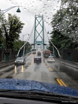 Lions Gate Bridge leaving Satnley park on a lovely Spring day:)