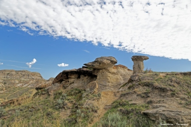 A remaining Hoodoo-erosion happens quickly here. Hoodoos from the 20's are all but eroded away.